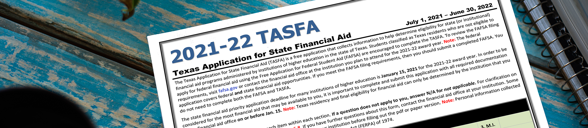 Virtual TASFA Information Sessions