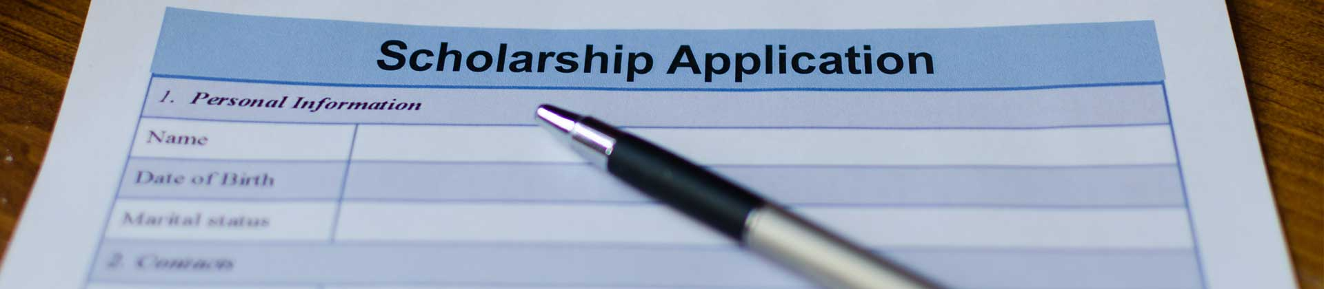 .Scholarship application form