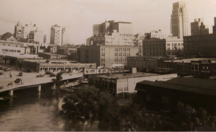 view of downtown from current UHD site in 1929