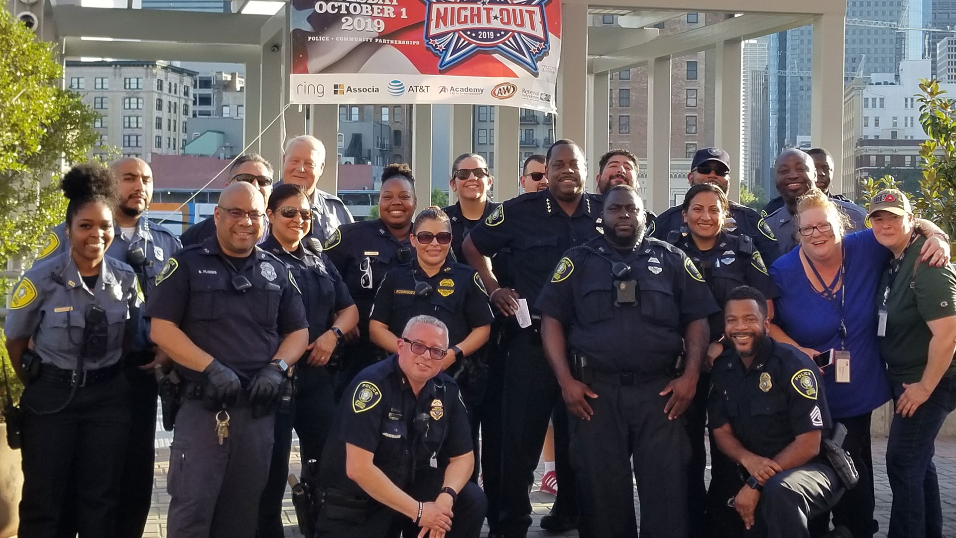 Group Photo of Police Chief and Officers