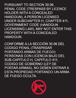 campus carry sign bilingual