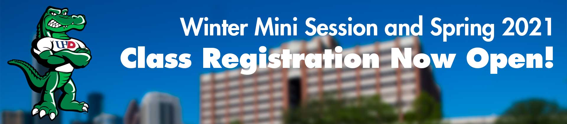 Winter Mini Session and Spring 2021 Class Registration Now Open!