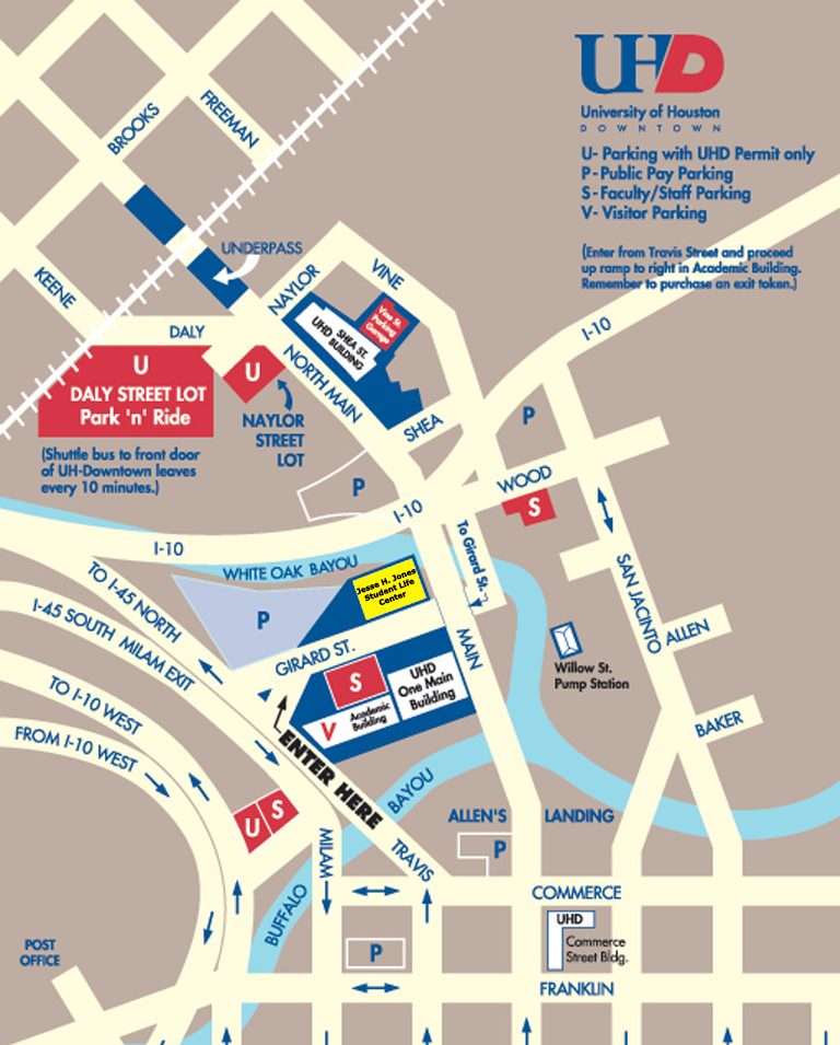 Directions | University of Houston-Downtown on york college campus map, uhv campus map, main campus map, st campus map, va campus map, ul campus map, jd campus map, phoenix college campus map, uhd campus map, unh campus map, ge campus map, hawaii campus map, fh campus map, uhcl bayou building map, u of h map, ma campus map, uk campus map, honolulu community college campus map, morehead campus map, uw campus map,