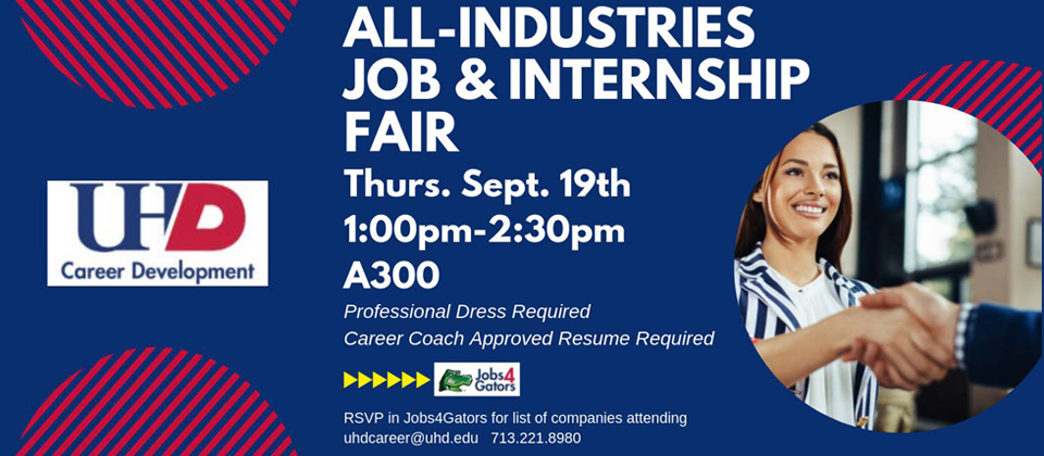 All Industries job and internship fair flyer