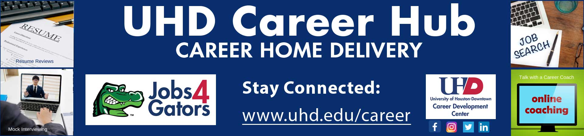 Promo for Career Hub to stay connected