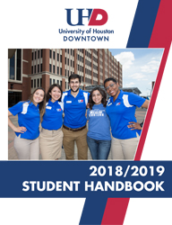 2018/2019 Student Handbook cover link to pdf document